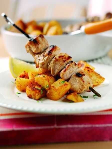 Moroccan potatoes with cumin and yoghurt chicken