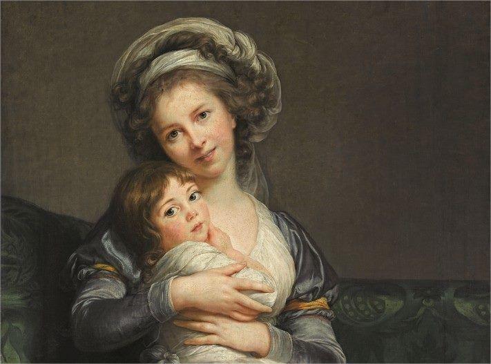 Élisabeth Louise Vigée Le Brun - Autoportret z córką