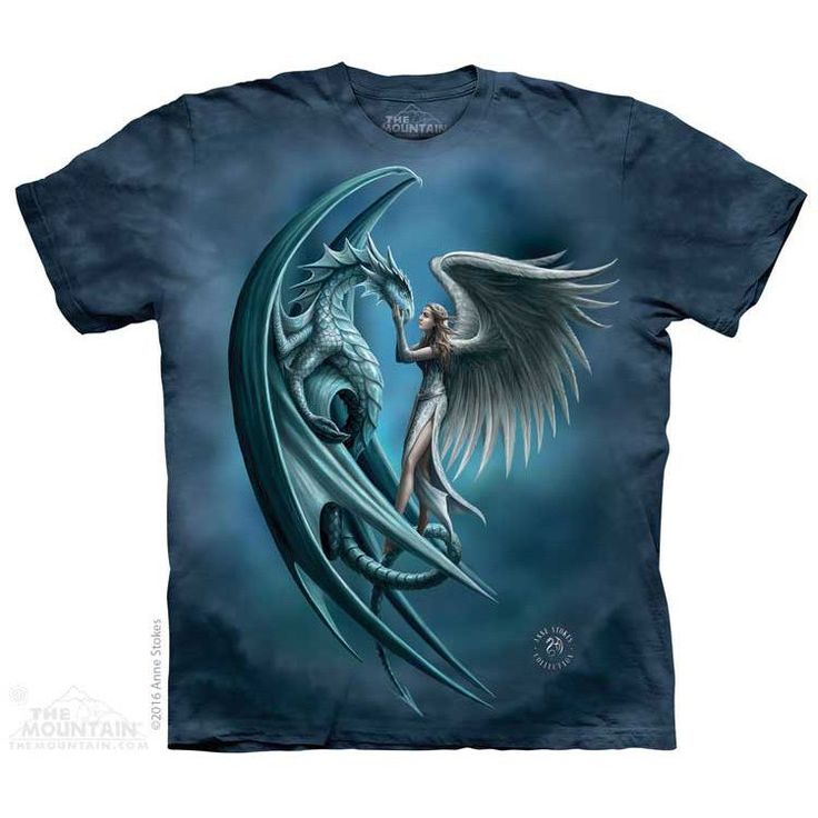 Angel & Dragon T-shirt in Adult sizes only. #themountain #tams #AnneStokes