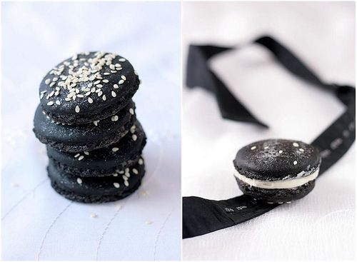 Black Tie Macarons | Mad About Meringue | Pinterest