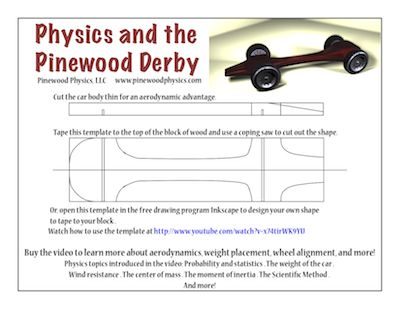 pinewood derby templates | Customizable pinewood derby car template