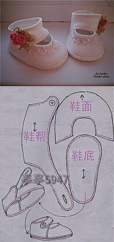 Zapatitos para bebe niña