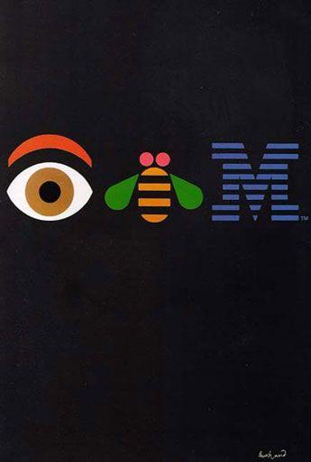 Paul Rand's Marque for IBM. Genius