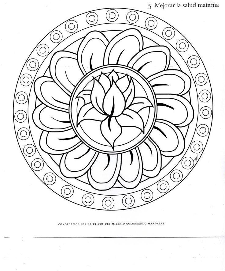Lotus Mandala Coloring Pages Wwwimgkidcom The Image