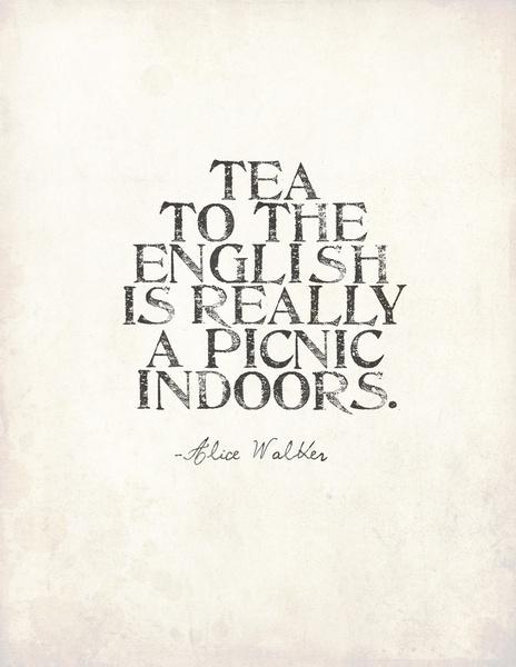 English Tea Art Print