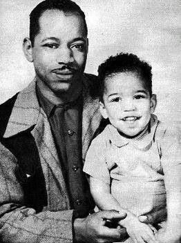Jimi Hendrix and father Al Hendrix