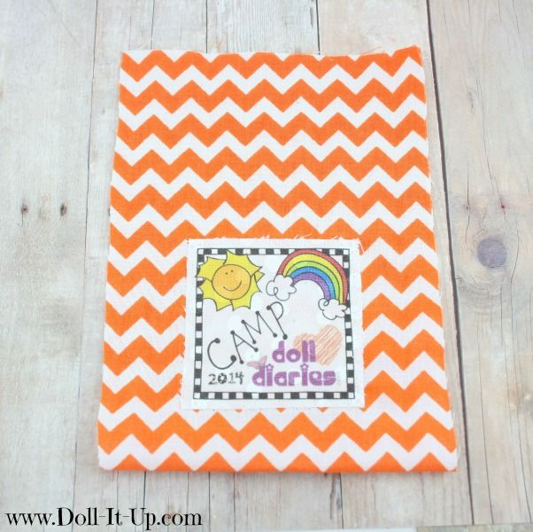 Sew a drawstring backpack-adding the iron-on