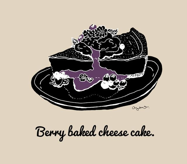 Berry baked cheese cake.