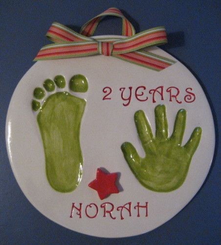 Ceramic Handprints of Infants and Children - Cutie Pies Clay Print Keepsakes