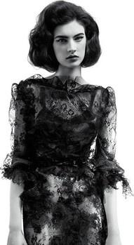valentino: Vintage Dior, V Magazines, Willis Vanderperr, Fashion, Style, Christian Dior, Black Lace Dresses, Haute Couture, Jacquelyn Jablonski