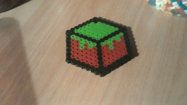 Minecraft Hama beads dirt block