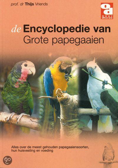 Deze encyclopedie maakt net als de Encyclopedie van Kleine papegaaien deel uit van een serie van 5 encyclopedieën die is samengesteld door professor dr Thijs Vriends, een internationaal bekende bioloog, ornitholoog en aviculturist.