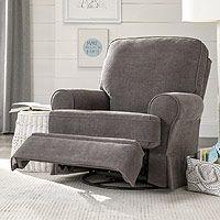 best chairs dakota swivel glider recliner charcoal velour
