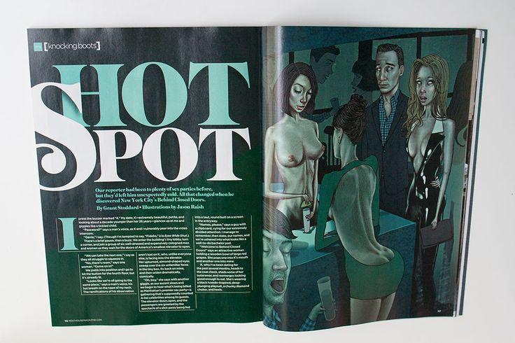 NSFW Penthouse Magazine Illustrations