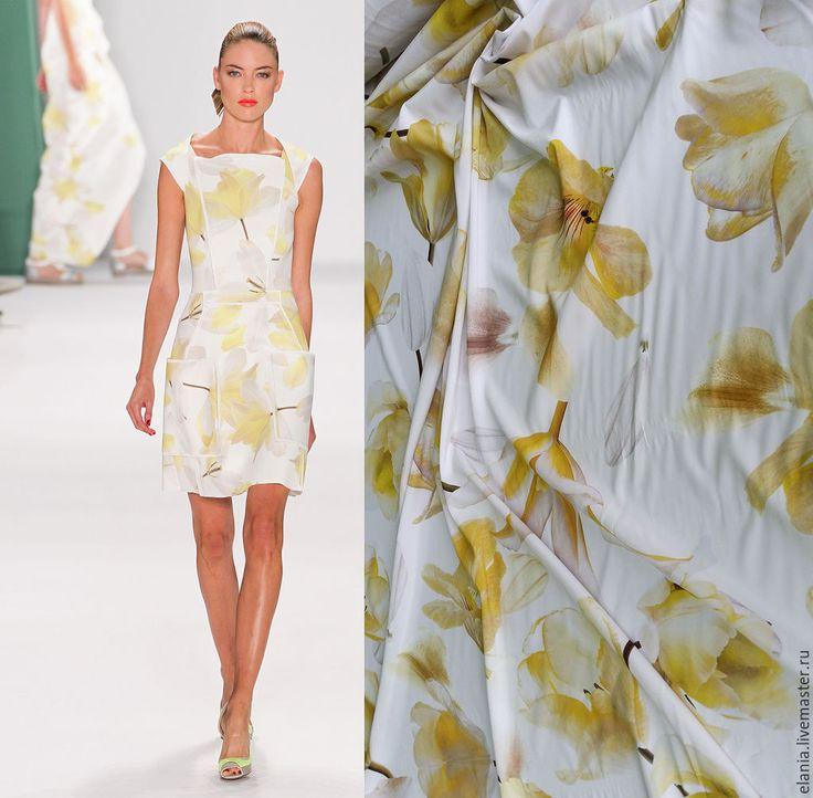 Купить Шелк Carolina Herrera - шелк, блузка, ткань, ткани, ткань для шитья, ткань для одежды