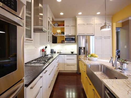 two colors painted kitchen cabinets  Kitchen cabinets  Pinterest