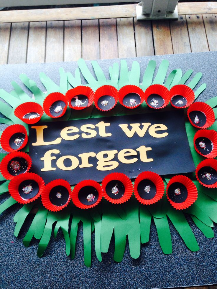 My grade 4/5 class made this wreath for the Anzac parade.