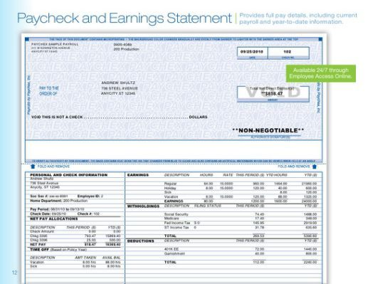 and Earnings Statement Adp Earnings