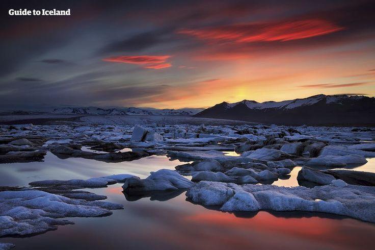 Jökulsárlón glacier lagoon in Iceland (south east)