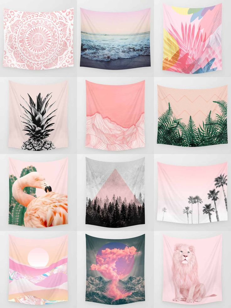 Society6 Pink Tapestries - Society6 is home to hundreds of thousands of artists from around the globe, uploading and selling their original works as 30+ premium consumer goods from Art Prints to Throw Blankets. They create, we produce and fulfill, and every purchase pays an artist.