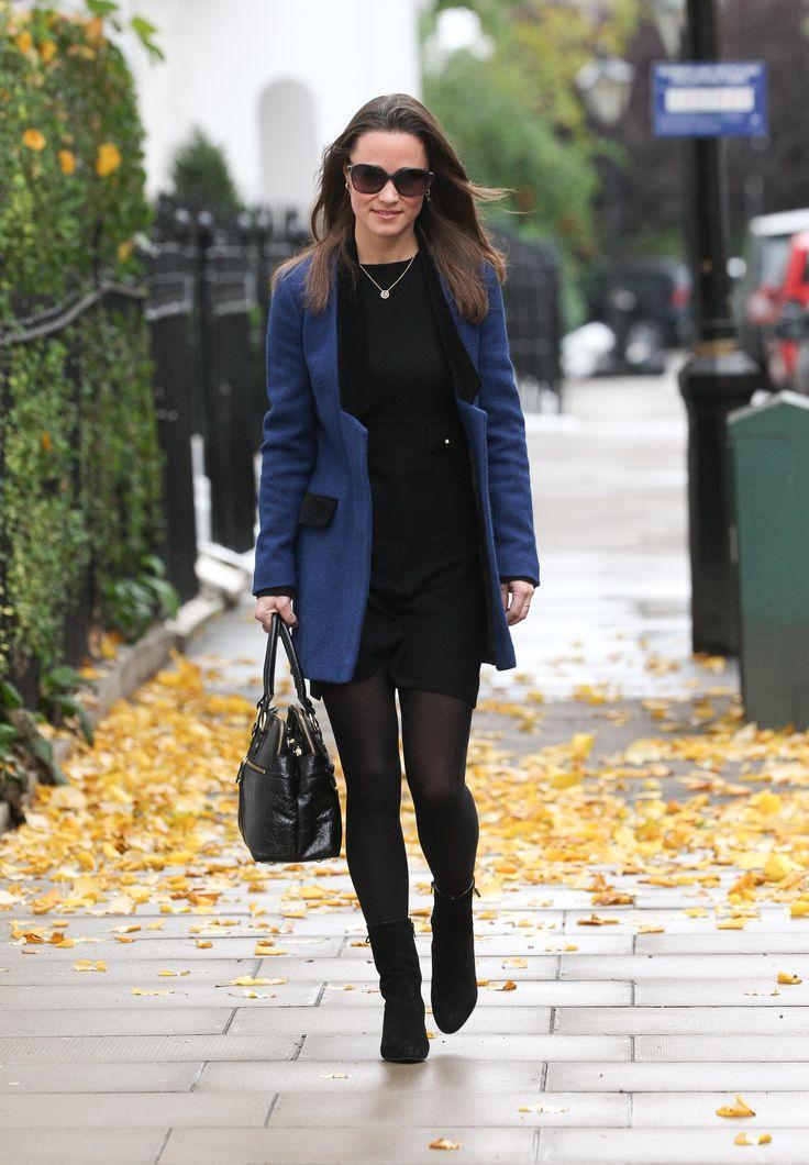 Black Dress Blue Blazer Pippa S Middlenton Outfits