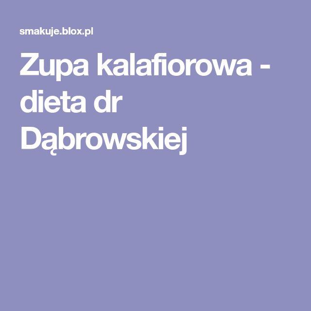 Zupa kalafiorowa - dieta dr Dąbrowskiej