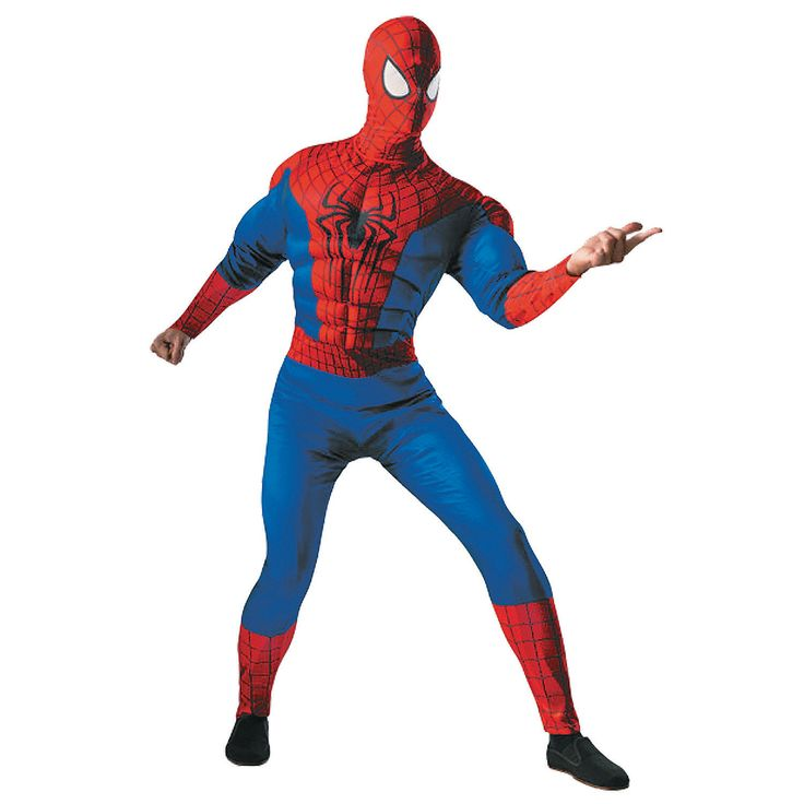 Spiderman+Halloween+Costume+for+Adults+-+OrientalTrading.com