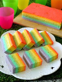 Peng's Kitchen: Steamed Rainbow Cake