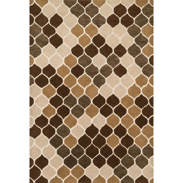 Hand Tufted Tatum Neutral Brown Wool Rug 79 X 99 By Alexander Home