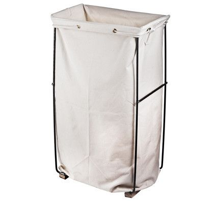 Canvas Amp Steel Standup Laundry Bag Canvas And Steel Hamper