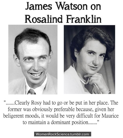 James Watson Francis Crick On Rosalind Franklin Each Other
