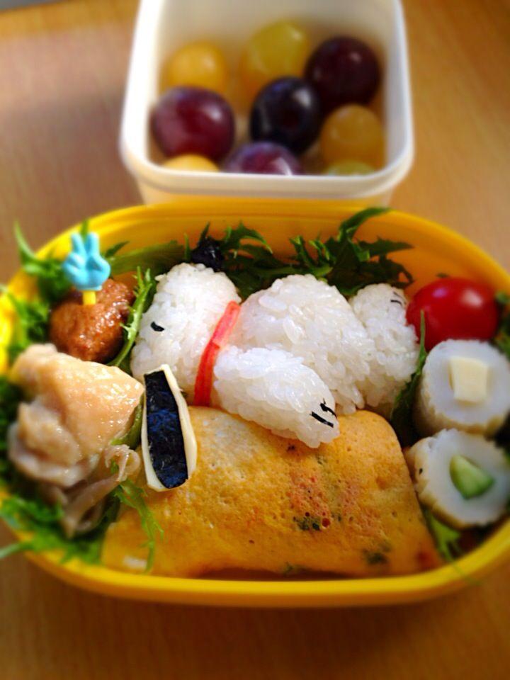 じゅんこっこ's dish photo 作者によく似たスヌーピー運動会弁当 | http://snapdish.co #SnapDish #レシピ