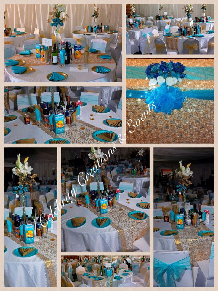 13 best images about celebrity venue styling on pinterest for Turquoise gold wedding theme