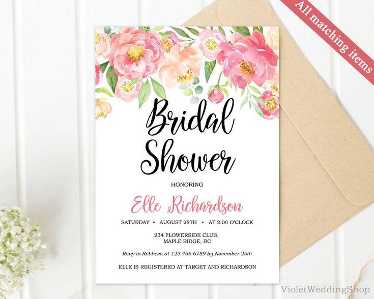 Best Bridal Shower Invitation Images On