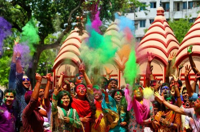Painting the town red, pink, green and yellow: Holi Festival 2016 in pictures - Every year, Hindus aroundthe world celebrate Holi Festival: the festival of colours. The event attractsmany non-Hindus to take part, too, with hundreds of people gathering to throw coloured powder at one another – a tradition …