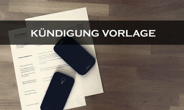 Kündigung Mobilfunkvertrag #Kündigung #Vorlage #Handyvertrag zum Ausdrucken