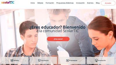 AYUDA PARA MAESTROS: ScolarTIC - Una gran comunidad educativa donde enc...