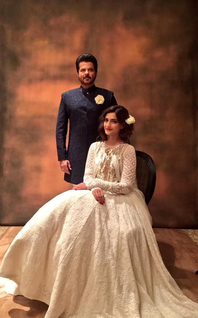 Sonam Kapoor and Anil Kapoor for Mijwan 2015