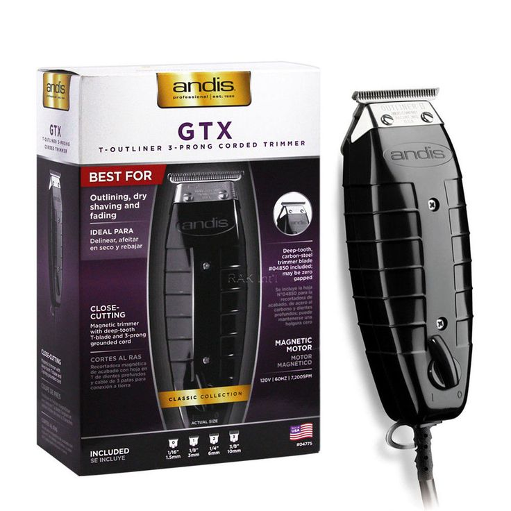 Andis TOutliner Hair Timmer GTO 04775 Black GTX with