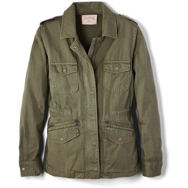 Velvet by Graham & Spencer Army Jacket ($148) ❤ liked on Polyvore featuring outerwear, jackets, military jacket, stitch jacket, field jackets, military army jacket and brown military jacket