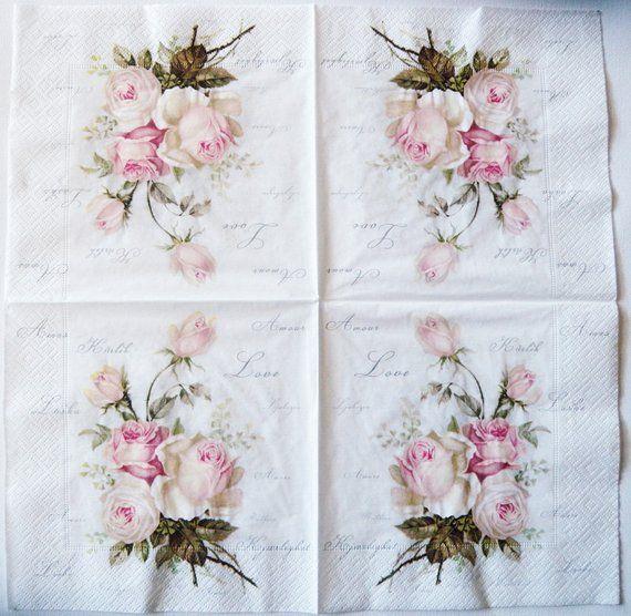 Flowers 4 single paper decoupage napkins wallpaper design -246 background