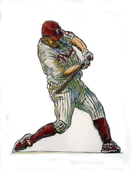 Phillies art   Image Jim Thome designated Hitter Philadelphia Phillies baseball art