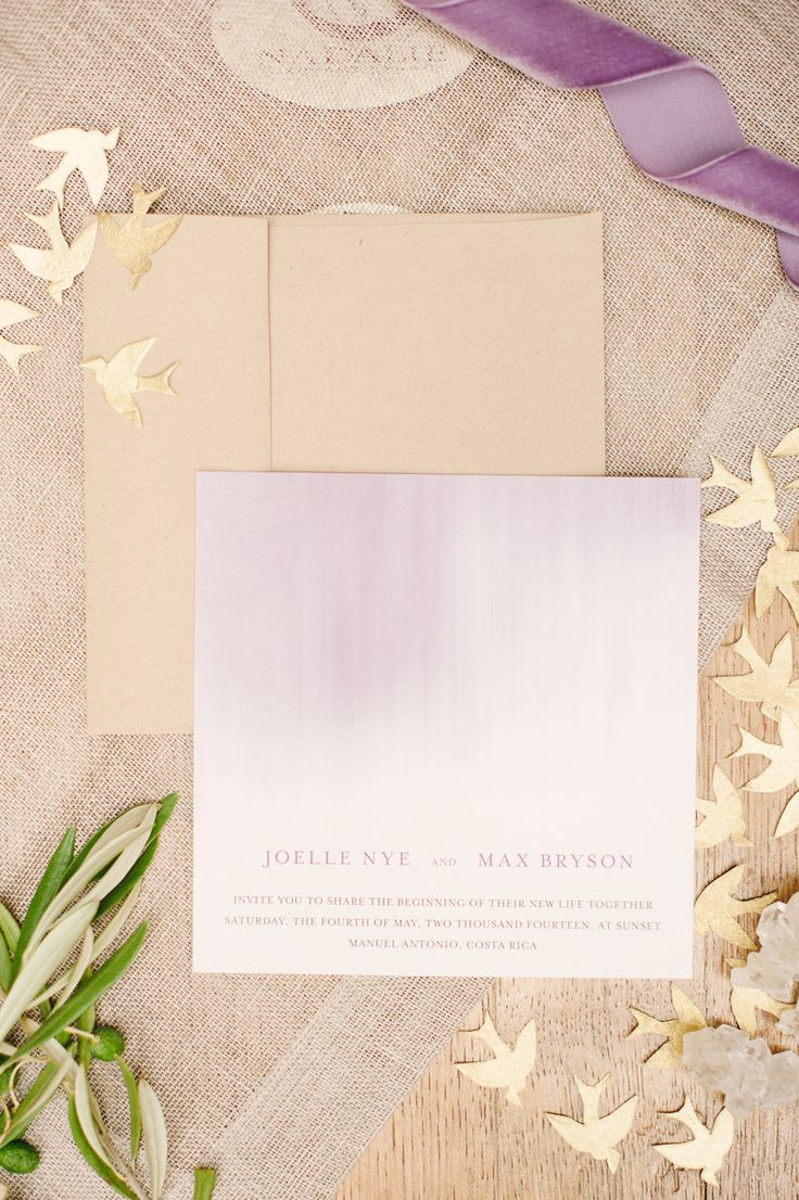 wedding invitations from michaels crafts%0A  Lavender and  gold  wedding inspiration