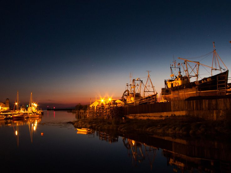The harbour at night -- Girvan, Scotland. Photography by Preston Reed.