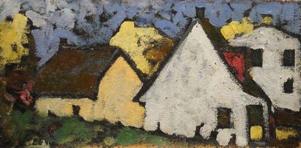 """MARC AURELE FORTIN - """"Maisons à Sainte-Rose"""" (1938)"""