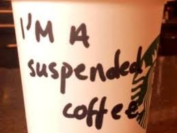 LOVE this idea - Suspended coffee