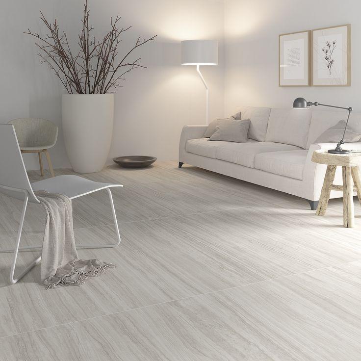 #Comedor #moderno #nordico #porcelanico #Rift de #Inalco, actualiza la belleza del #marmol #travertino