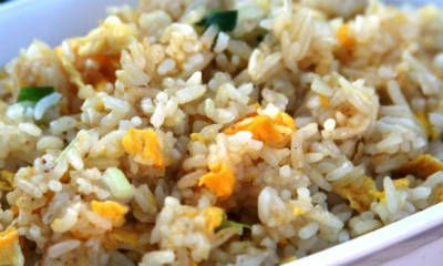 Egg and Onion Fried Rice Serve with tomato sauce or chilli sauce.