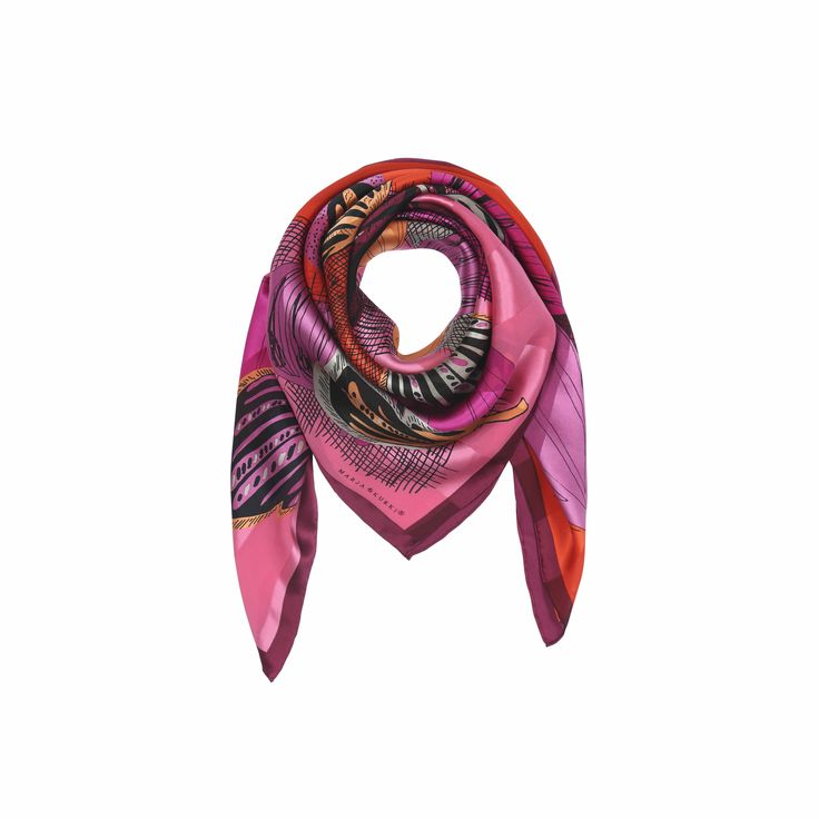 FW16 Blusters and Blizzards silk scarf