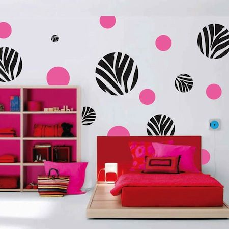 zebra dots wall art design - Designs For Walls